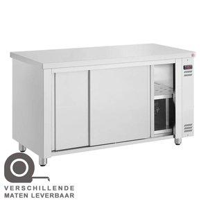 XXLselect Warmhoudkast - RVS - 1850W - 190x70x(h)86cm