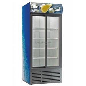 XXLselect Horeca Kühlschrank Dieptekoeling- mit Glastüren - 852 Liter - 110x82x (h) 200 cm