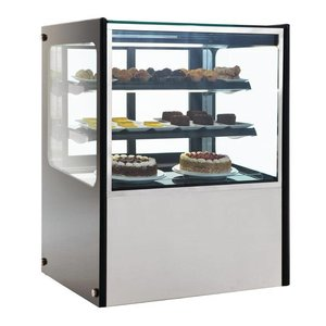 Polar Refrigerated display case Display - Stainless Steel - 300 liter on Wheels - 90x71x (h) 120cm