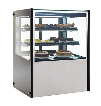 Polar Refrigerated display case Display - RVS - 300 liter on Wheels - 90x71x (h) 120cm