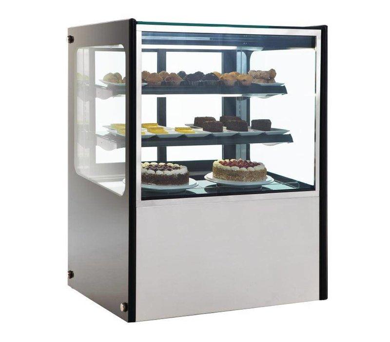 Polar Kühlvitrine Display - RVS - 300 Liter auf Rädern - 90x71x (h) 120cm