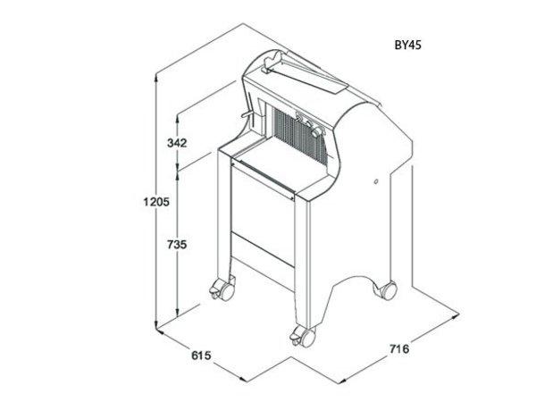 Sofinor Brotschneidemaschine | Weiß | Automatik | Bread via Rear | 550W