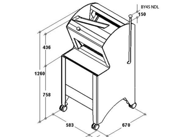 Sofinor Brotschneidemaschine | Black | Halbautomatische | Bread via Rear | 550W