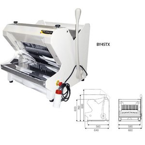 Sofinor Bread slicer | White Tabletop | Semi-automatic | Bread via Top | 490W
