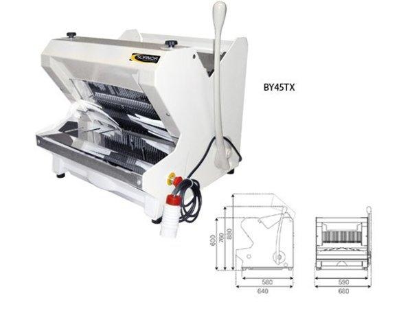 Sofinor Broodsnijmachine   Wit Tafelmodel   Semi-Automatisch   Brood via Bovenzijde   490W