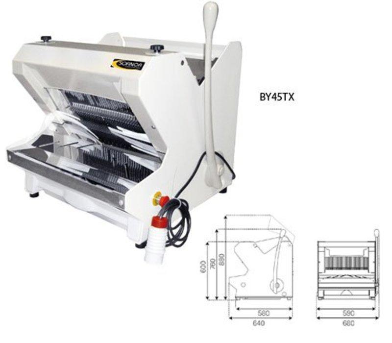 Sofinor Brotschneidemaschine | Weiße Tischplatte | Halbautomatische | Brot über Top | 490W