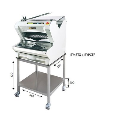 Sofinor Brotschneidemaschine | Weiße Tischplatte | Automatik | Brot über Top | 550W