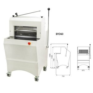 Sofinor Bread slicer | Semi-automatic | Bread thickness 11-16mm | 490W
