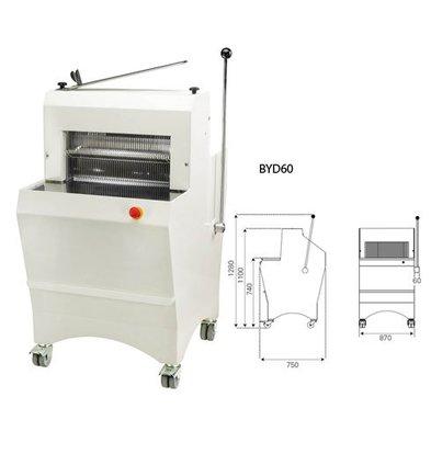 Sofinor Bread slicer | Semi-automatic | Bread thickness 11-16mm | 490W