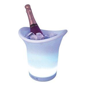 XXLselect Champagne/Wijnkoeler - Dubbelwandig Kunststof - Led Verlichting - Ø12x(h)19cm