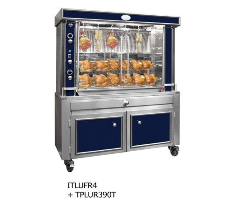 Sofinor Chicken Grill 4/6/8 Spits - Gas - 1580x750x (h) 1120mm - 24/36/48 chickens