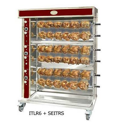 Sofinor Chicken Grill 2/4/6/8 Spits - Gas - 15kW - 1440x750x (h) 670mm - 12/24/36/48 chickens