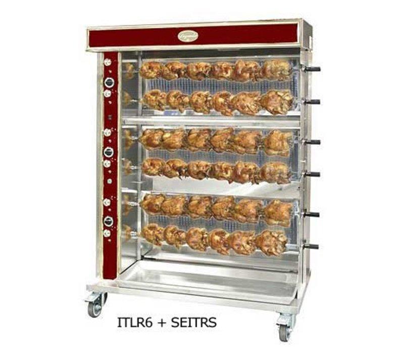 Sofinor Chicken Grill 2/4/6/8 Spits - Gas - 15kW - 1440x750x (h) 670mm - 12/24/36/48 Hühner