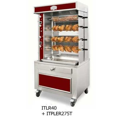 Sofinor Chicken Grill 2/4/6/8 Spits - Gas - 1100x750x (h) 670mm - 8/16/24/32 chickens