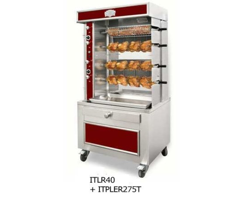 Sofinor Chicken Grill 2/4/6/8 Spits - Gas - 1100x750x (h) 670mm - 8/16/24/32 Hühner