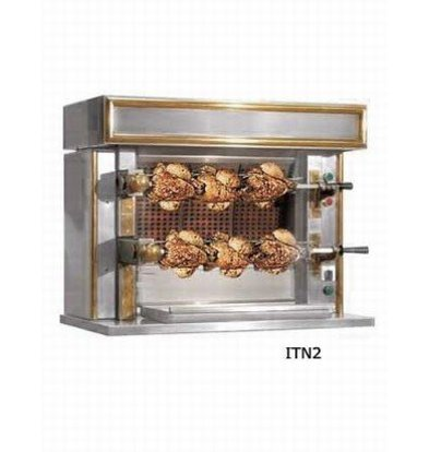 Sofinor Chicken Grill 2 Spits - Gas - 870x530x (h) 722mm - 6 Chickens