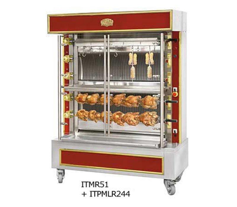Sofinor Chicken Grill 2/4/6 Spiesse + 1 vertikal - Gas - 1465x745x (h) 1020mm - 12/24/36 Hühner