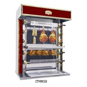 Sofinor Chicken Grill 2/4/6 Shampurs + 1 vertical - Gas - 1125x745x (h) 1020mm - 08/16/24 chickens