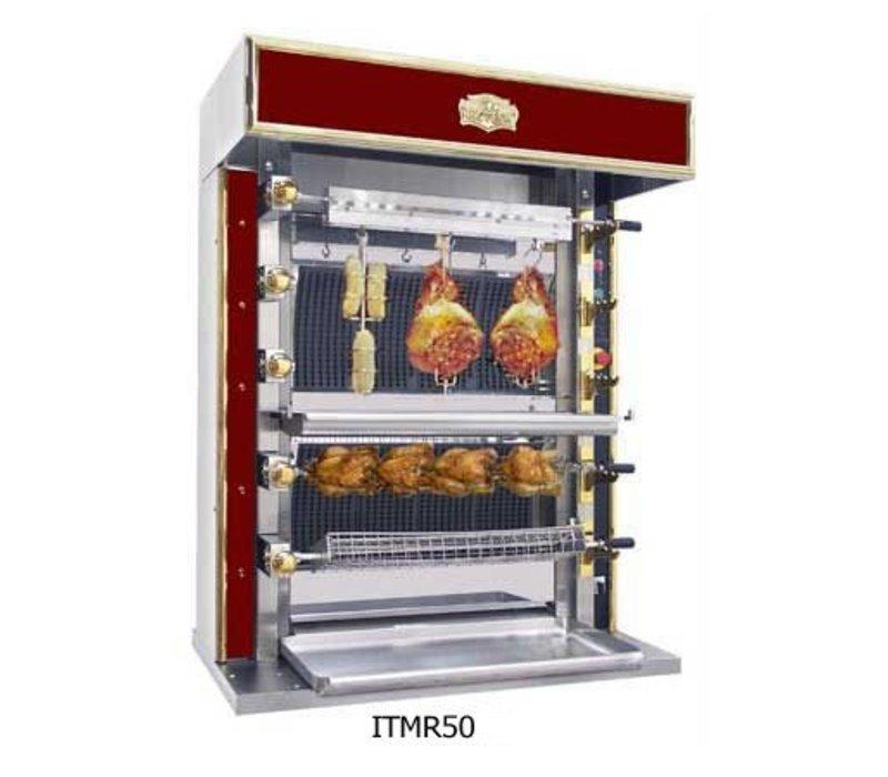 Sofinor Chicken Grill 2/4/6 Shampurs + 1 vertical - Gas - 1125x745x (h) 1020mm - 08/16/24 chickens