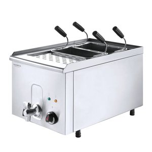 XXLselect Pasta cooker with drain valve | Including Baskets | 3.5 kW | 40x68x (h) 37cm
