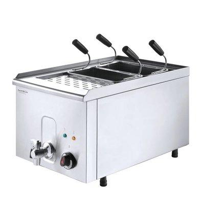 XXLselect Pastakoker met Aftapkraan | Inclusief Manden | 3.5 kW | 40x68x(h)37cm