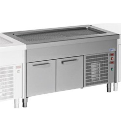 Diamond Heatsink Top Element - 6x GN 1/1 - Refrigerated Cabinet - 0.6 kW - 2250x800x (h) 900mm