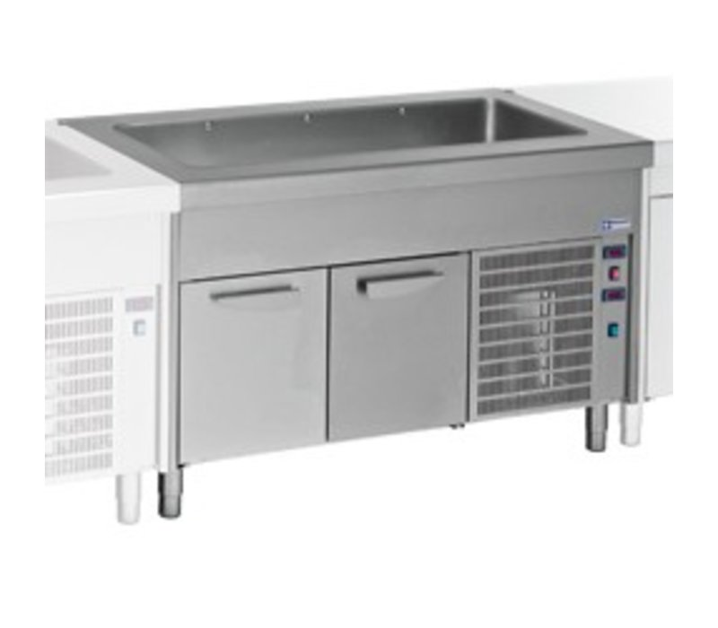 Diamond Cooled Heatsink Cockpit - 6x GN1 / 1 - Stainless steel Open Closet - 0.6 kW - 2250x800x (h) 900mm