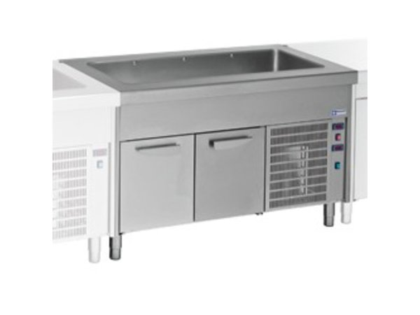 Diamond Cooled Heatsink Cockpit - 6x GN 1/1 - Refrigerated Cabinet - 0.6 kW - 2250x800x (h) 900mm