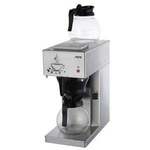 Saro Coffee Wirtschafts RVS | 2x1,8 Liter / 24 Tassen | 205x385x (H) 435mm
