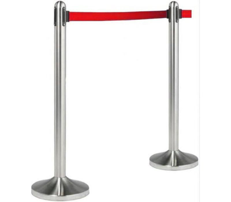 Securit Barrier post Chrome 13 kg - Red drawstring 210 cm - HEAVY DUTY - XXL OFFER!