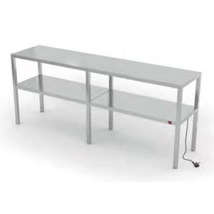 XXLselect Stainless Steel Heat Bridge on Size - All types of Stainless Steel heated etageres available in any size