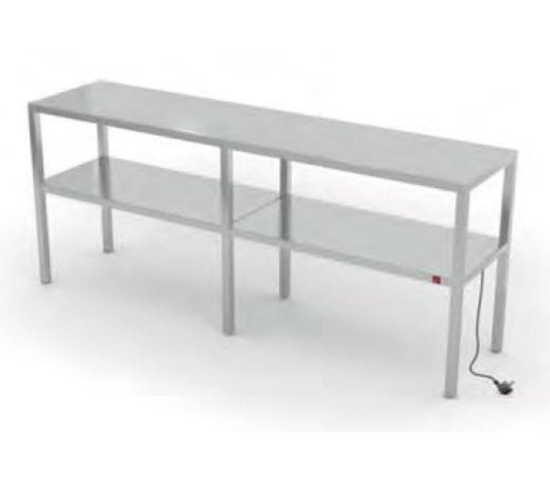 XXLselect RVS Warmtebrug op Maat - Alle soorten verwarmde etageres van Roestvrij Staal leverbaar in iedere Maat