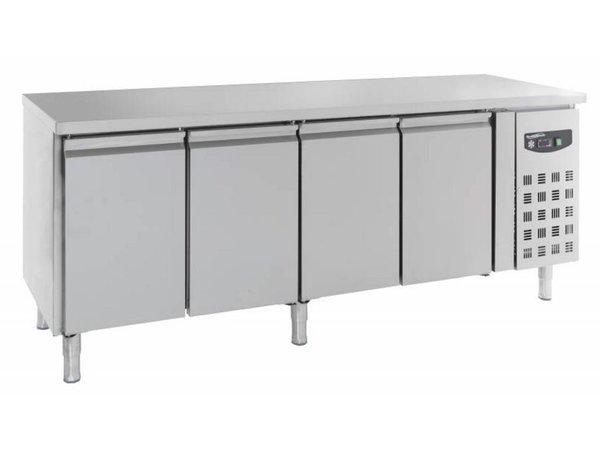 Combisteel Koelwerkbank - RVS - 4 deurs - 223x60x(h)86cm