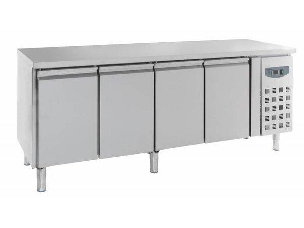 Combisteel Kühle Workbench 4 Türen - Edelstahl - 223x70x (h) 85cm