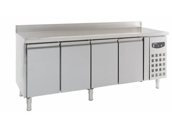 Combisteel Kühle Workbench - SS - 4 Türen - Splash Ridge - 223x70x (h) 85 / 95cm