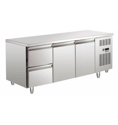 Bartscher Koelwerkbank - Stainless Steel - 2 doors and 2 drawers - 179x70x85cm
