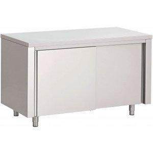 XXLselect Stainless steel worktable + Doors | 800 (b) x700 (d) mm | CHOICE OF 7 WIDTHS