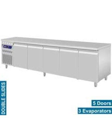Diamond Coole Workbench RVS - 5 Türen - Motor Links - 2625x700x (H) 850 / 900mm - Europäische
