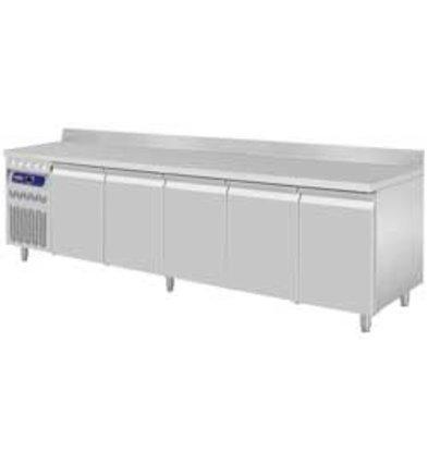 Diamond Coole Workbench RVS - 5 Türen - Motor Links - mit Grenze Spat - 2625x700x (H) 850 / 900mm - Europäische