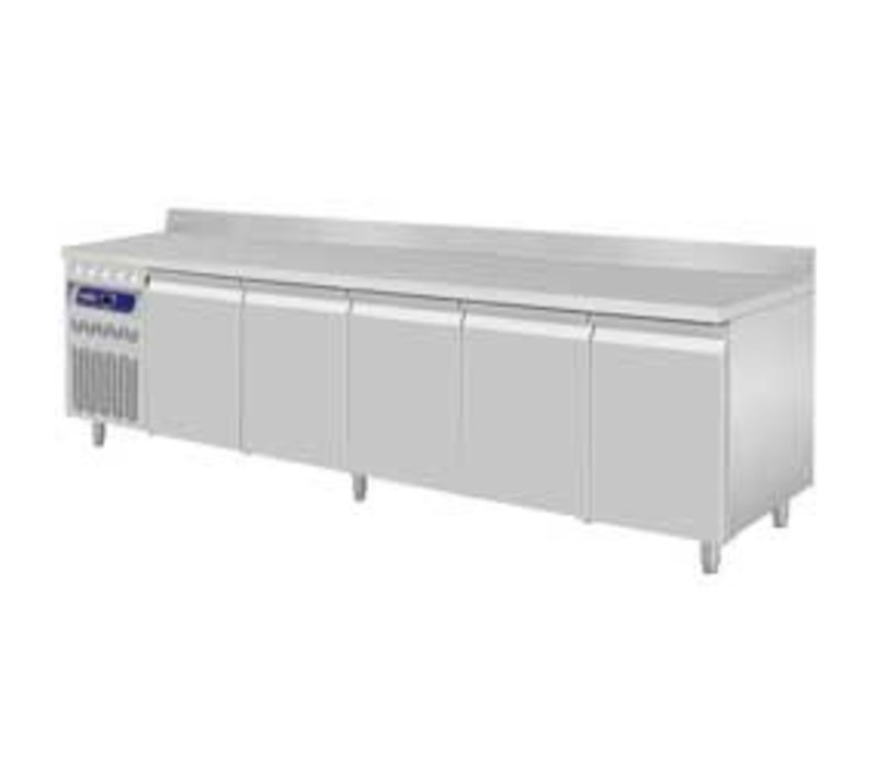 Diamond Coole Workbench RVS - 5 Türen - Motor Links - mit Grenze Spat - 2625x700x (H) 850 / 900mm - Europäische
