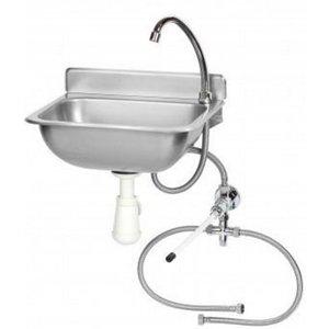 Saro Handwaschbecken + Mixer | SS | mit Knieoperation | 375x310x (H) 190mm