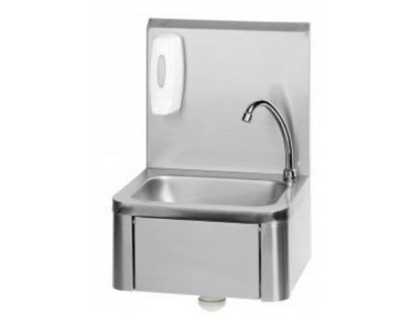 Saro Stainless Steel Sink | Knee Operation | Included Soap dispenser | Swiveling Mixer | 400x340x (H) 595mm
