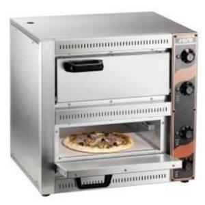Saro Pizza Oven Double Electric | 2 Pizzas Ø33cm | 2.5kW | 530x430x (H) 520mm
