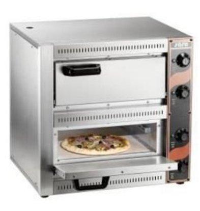 Saro Pizza Oven Dubbel Elektrisch | 2 Pizza's Ø33cm | 2,5kW | 530x430x(H)520mm