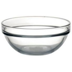 XXLselect Glazen Kom - Gehard glas - 340ml - 12 cm Ø - Prijs per 6 Stuks