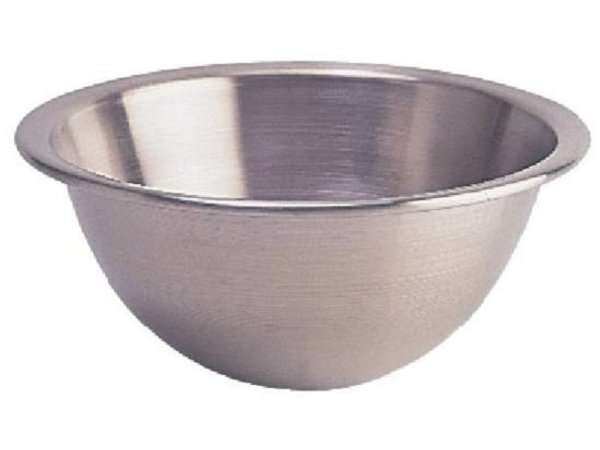 XXLselect Stainless steel mixing bowl - with Round Bottom - 3.5 Liter - Ø250mm