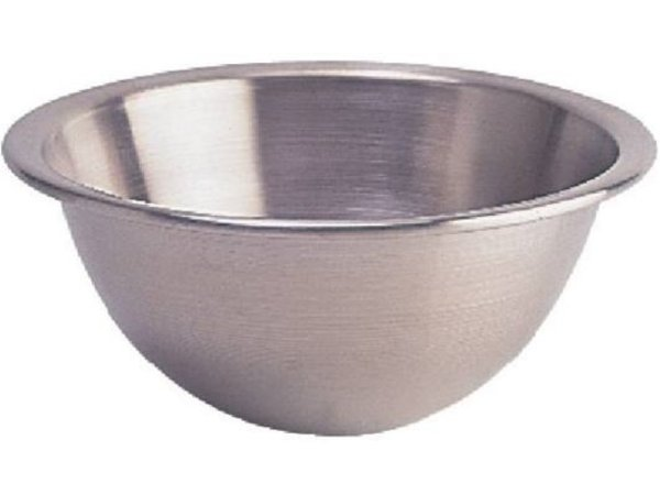 XXLselect Stainless steel mixing bowl - with Round Bottom - 10 Liter - Ø350mm
