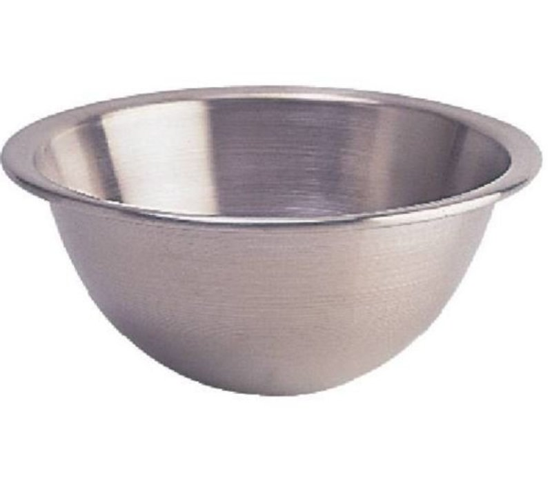 XXLselect Stainless steel mixing bowl - with Round Bottom - 15 Liter - Ø400mm