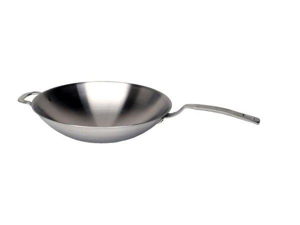 Saro Wok voor inductie kookplaat - 35 cm