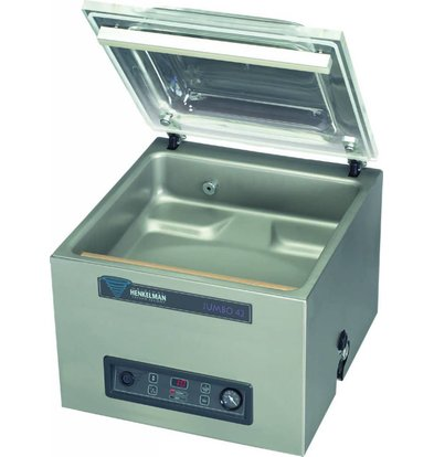 Henkelman Vacuummachine Jumbo 42 - Dubbele Sealbalk | Henkelman | 016m3 / 20-40 sec | Afm. Kamer 320x420x(h)180mm